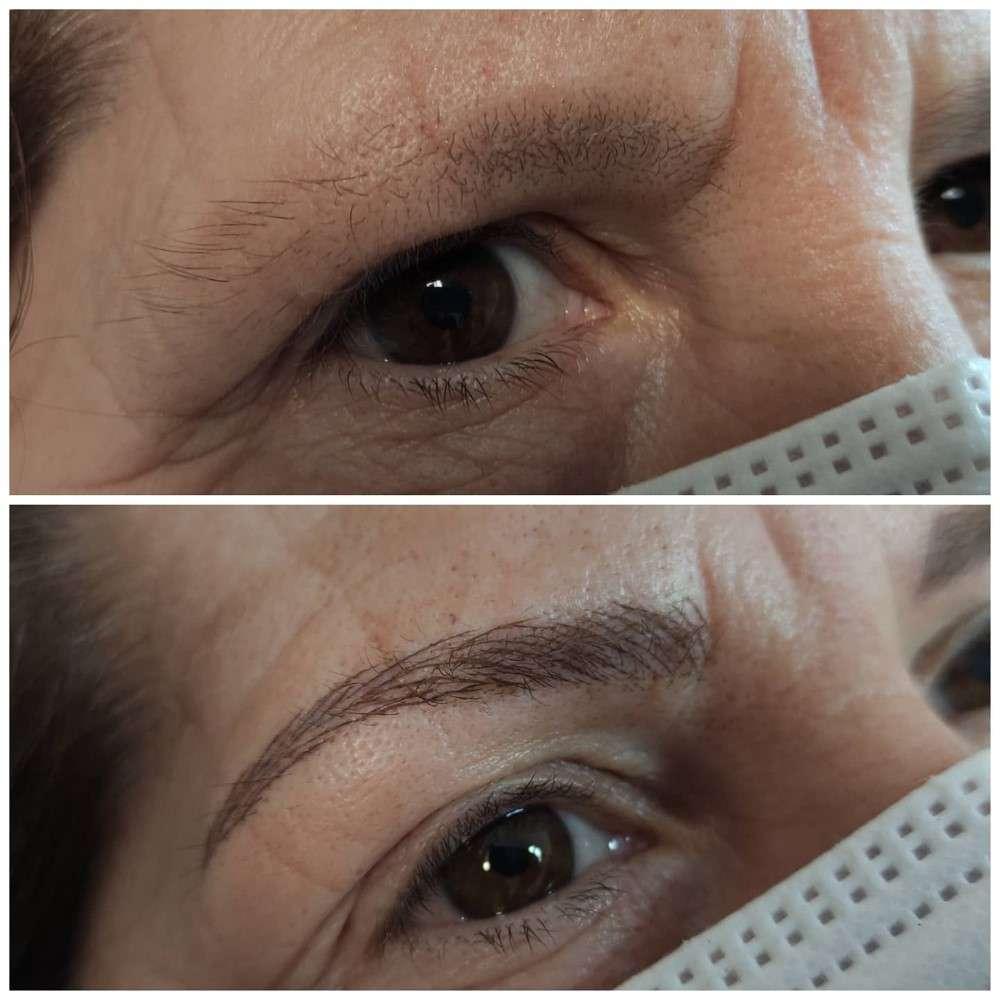 Resultados de tratamiento microblading Granada estética GaliaBeauty